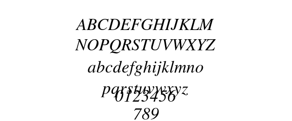 STIXGeneral Italic Preview