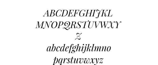 Playfair Display Italic Preview