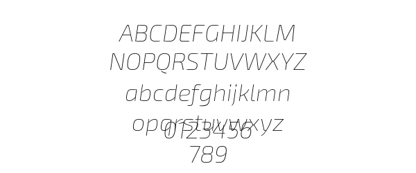 Exo 2 Thin Italic Preview